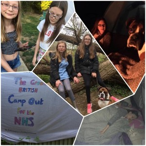 Stacey Smith - camp out for NHS Collage