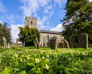 Sutton Valence Church in the Spring