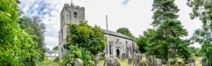 Sutton Valence church panoramic view